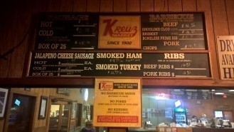 The menu is pretty straightforward